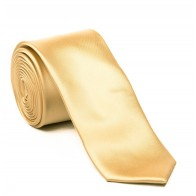 Caramel Satin Tie with Matching Pocket Square