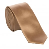 Toffee Satin Tie with Matching Pocket Square