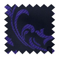 Purple on Black Swirl Leaf Swatch #AB-SWA1000/14