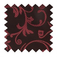 Burgundy on Black Swirl Leaf Swatch #AB-SWA1000/1
