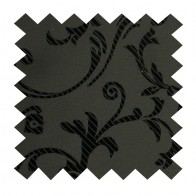 Black on Black Swirl Leaf Swatch #AB-SWA1000/3