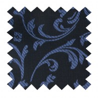 Navy on Black Swirl Leaf Swatch #AB-SWA1000/4