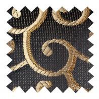 Gold on Black Royal Swirl Swatch #AB-SWA1001/11