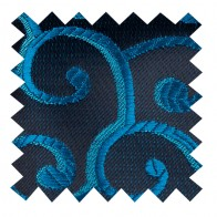 Teal on Black Royal Swirl Swatch #AB-SWA1001/12