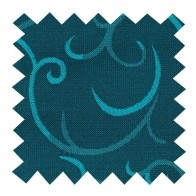 Teal Modern Scroll Swatch #AB-SWA1002/5
