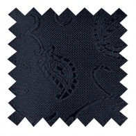 Black on Black Budding Paisley Swatch #AB-SWA1003/4
