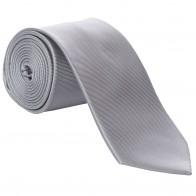 Grey Fine Twill Tie #T100/2
