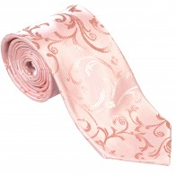 Peach Swirl Leaf Wedding Tie #AB-T1000/7