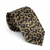 Gold on Black Royal Swirl Tie #AB-T1001/11