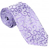 Lilac Royal Swirl Wedding Tie #AB-T1001/1