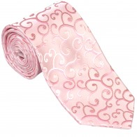 Light Pink Royal Swirl Wedding Tie #AB-T1001/3