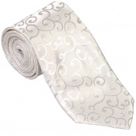 Ivory Royal Swirl Wedding Tie #AB-T1001/6