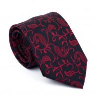 Wine on Black Budding Paisley Tie #AB-T1003/6