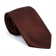Chocolate Brown Shantung Tie #AB-T1005/19