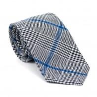 Licorice Black Check Tie #AB-T1007/1