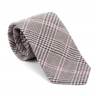 Brown Check Tie #AB-T1007/4