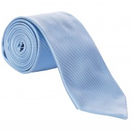 Blue Fine Twill Tie with Matching Pocket Square