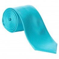 Turquoise Fine Twill Tie with Matching Pocket Square
