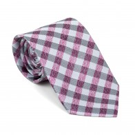 Burgundy Neat Check Tie #AB-T1015/3