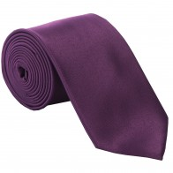 Purple Satin Tie #T1847/6
