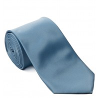 Baby Blue Satin Tie with Matching Pocket Square