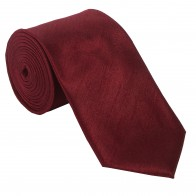 Wine Shantung Tie with Matching Pocket Hankie