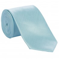 Mint Shantung Tie and Pocket Hankie