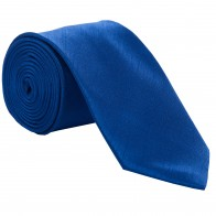 Royal Blue Shantung Tie with Matching Pocket Hankie