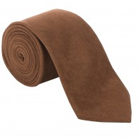 Light Brown Suede Effect Tie #T1869/6