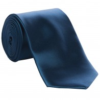 Airforce Blue Satin Tie with Matching Pocket Square