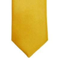 Gold Satin Tie with Matching Pocket Square