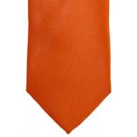 Orange Satin Tie with Matching Pocket Square