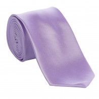 Lilac Satin Tie with Matching Pocket Square