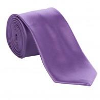 Lavander Satin Tie with Matching Pocket Square