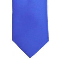 Regatta Blue Satin Tie with Matching Pocket Square