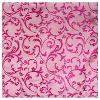 Hot Pink Swirl Leaf Wedding Pocket Square #AB-TPH1000/5