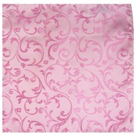 Pink Swirl Leaf Wedding Pocket Square #AB-TPH1000/6