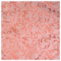 Coral Swirl Leaf Wedding Pocket Square #AB-TPH1000/9