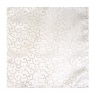 Ivory Royal Swirl Wedding Pocket Square #AB-TPH1001/6