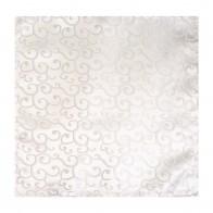 Ivory Royal Swirl Wedding Pocket Square #AB-TPH1001/6