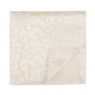 Cream Royal Swirl Pocket Square #AB-TPH1001/7