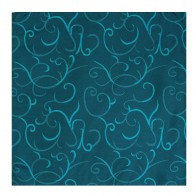 Teal Modern Scroll Wedding Pocket Square #AB-TPH1002/5