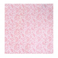 Coral Budding Paisley Wedding Pocket Square #AB-TPH1003/1