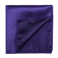 Plum Purple Shantung Pocket Square #AB-TPH1005/8