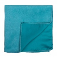 Duck Egg Blue Suede Pocket Square #AB-TPH1006/9