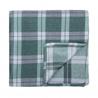 Moss Green Wide Check Pocket Square #AB-TPH1014/3