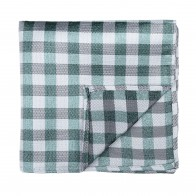 Moss Green Neat Check Pocket Square #AB-TPH1015/2