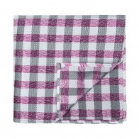 Burgundy Neat Check Pocket Square #AB-TPH1015/3