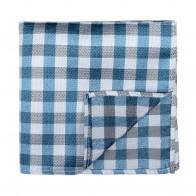Blue Neat Check Pocket Square #AB-TPH1015/4
