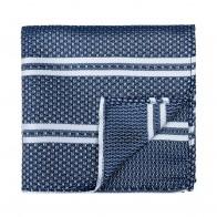 Navy Blue Pastel Stripe Pocket Square #AB-TPH1016/3